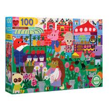100 Piece Green Market Jigsaw Puzzle