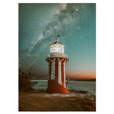 Starry Hornby Lighthouse Stretched Canvas Wall Art