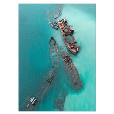 The Moreton Wrecks Stretched Canvas Wall Art
