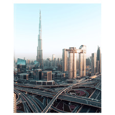 Afternoon In Dubai Stretched Canvas Wall Art