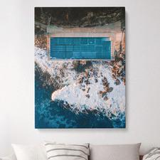Freshwater Rock Pool Coastal Stretched Canvas Wall Art