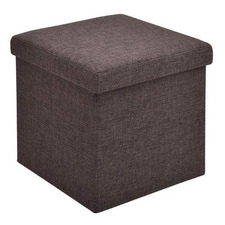 Clarity Linen Collapsible Ottoman