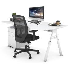 3 Piece Steinn White Leg Home Office Package