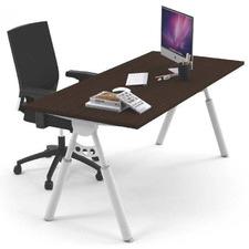 Dark Timber Elbert Adjustable Home Office Desk