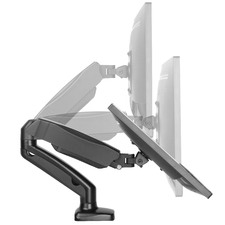 Black Maddie Interactive Single Monitor Arm