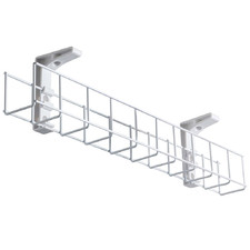 White Starfall Single Tier Metal Cable Tray
