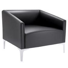 Vasco Metal Leg Faux Leather Armchair