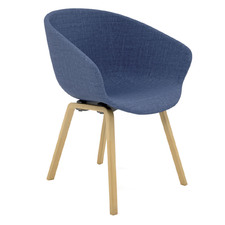 Argus Wooden Leg Upholstered Visitor Chair