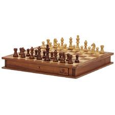 Natural Chess & Checker Board Game Set