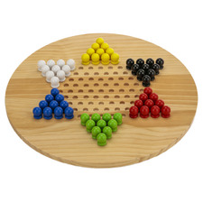 Giant Chinese Checkers & Solitaire Game Set