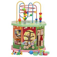 Kids' Octagonal 10 Game Wooden Playset