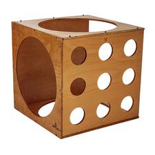 Kids' Natural Wooden Climbing Cube
