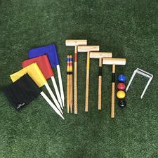4 Player Outdoor Croquet Game Set