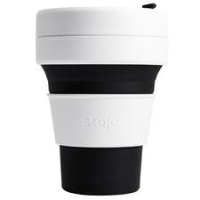 Black Striped Stojo Silicone Pocket Cup