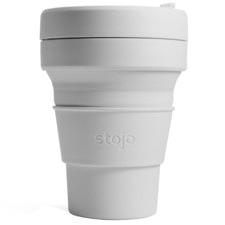 Silver Plain Stojo Silicone Pocket Cup