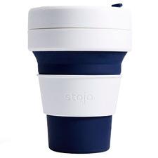 Indigo Striped Stojo Silicone Pocket Cup