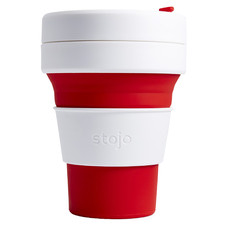 Red Striped Stojo Silicone Pocket Cup