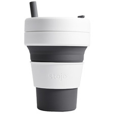 Slate Striped Stojo Silicone Travel Cup
