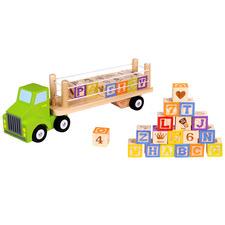 Kids' Alphabet & Numbers Building Blocks Truck