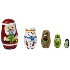 Kids' Christmas Nesting Doll Set
