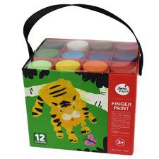 Kids' 12 Piece Finger Paint Set