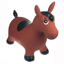 Kids' Brown Horse Inflatable Bouncy Rider