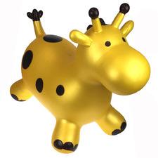 Kids' Gold Giraffe Inflatable Bouncy Rider