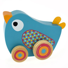 Kids' Bird Wind & Walk Wooden Music Box
