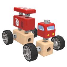 Kids' Emergency Vehicle Building Blocks Set