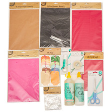 12 Piece Craft Paper & Glue Set