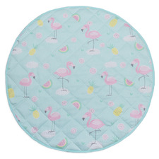 Flamingo Round Cotton Play Mat