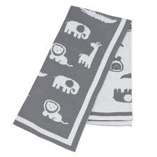 Urban Safari Knitted Reversible Cotton Pram Blanket