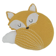 Fox Knitted Character Cotton Novelty Cushion