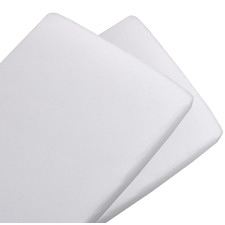 White Jersey Cotton Bassinet Fitted Sheets (Set of 2)