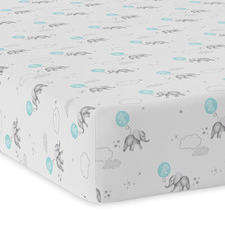 Dream Big Jersey Cotton Cot Fitted Sheet