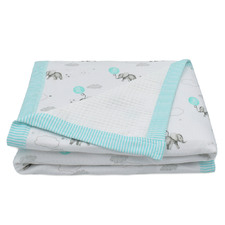 Dream Big Waffle Cotton Cot Blanket