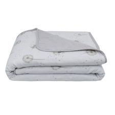 Living Textiles Dandelion & Grey Muslin Pram Blanket