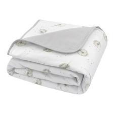 Living Textiles Dandelion & Grey Muslin Cot Blanket