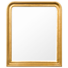 Gold Claudia Rectangular Timber Wall Mirror