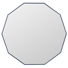 Gigi Decagon Timber Wall Mirror