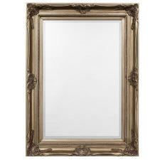 Antique Silver Victoria Small Rectangular Timber Wall Mirror