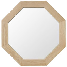 Natural Douglas Octagonal Timber Wall Mirror
