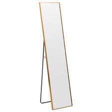 Halo Rectangular Metal Standing Mirror
