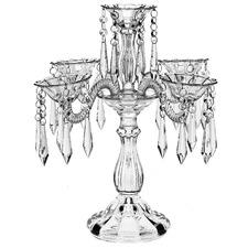 5 Arm Crystal Prism Candelabra