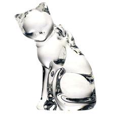 Crystal Cat Figurine