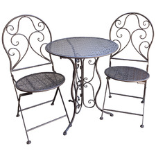 2 Seater Bronze Chloe Outdoor Bistro Set
