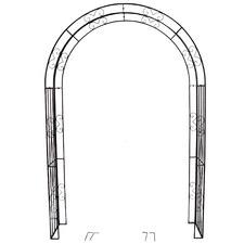 Laurel Metal Garden Arch