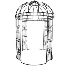 Dark Brown Metal Garden Gazebo