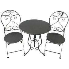 2 Seater Charcoal Lena Outdoor Bistro Set