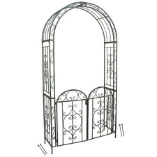 Metal Garden Arch with Gate